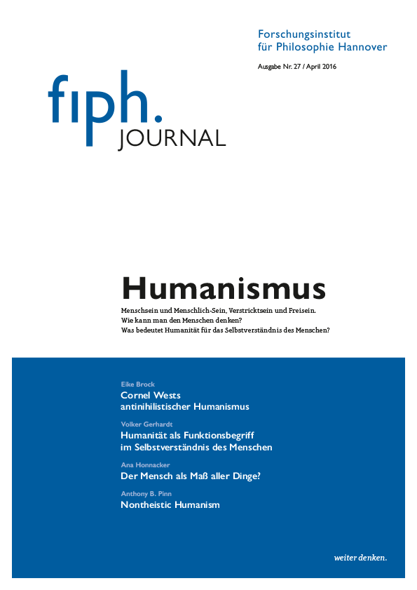 fiph-Journal Nr. 27 Humanismus